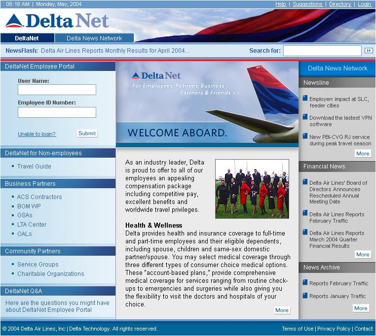 Dlnet.delta.com - Access DeltaNet Employee Portal
